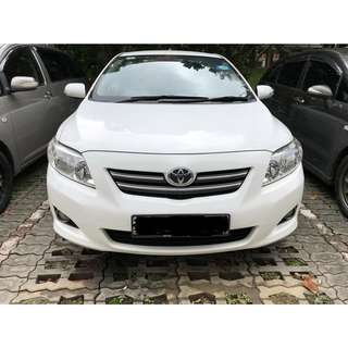 WEEKLY $350 1 MONTH CONTRACT TOYOTA ALTIS GRAB/UBER USAGE
