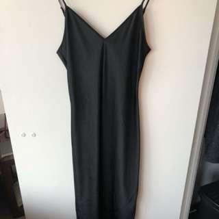 Aritzia Wilfred Free black silk dress SZ-S