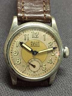 40s RONE 小三針古董錶