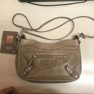 Authenic Balenciaga Hip In Beige