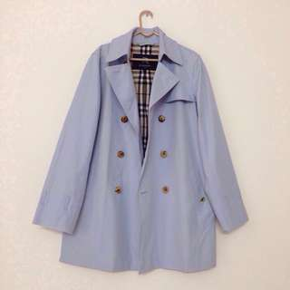 BURBERRY Classic Trench Coat Long Jacket Outerwear Blue