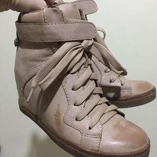 vintage color wedge boots