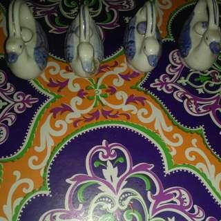 Turun harga Pajangan keramik antik 4 bebek