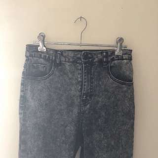 Dotti High Waisted Acid Wash Jeans