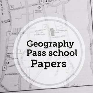 Geography pass school paper for o level