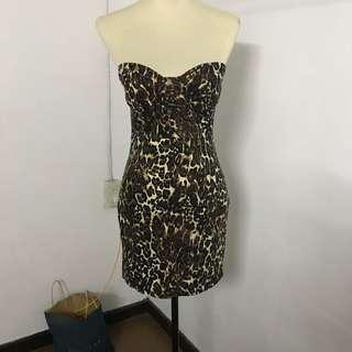 Forever21 Leopard Strapless Dress