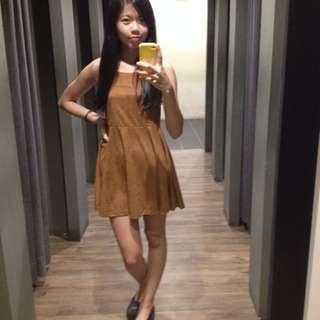 [RS] Khaki Cross Back Dress