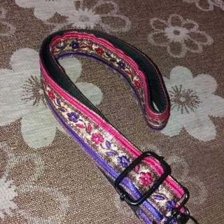 Flowery strap bag