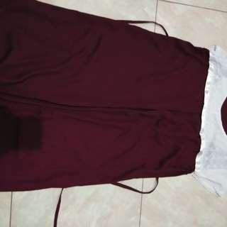 Baju bamil maroon