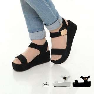 Soft rianna straps sandal wedges