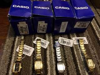 Casio watch Vintage stainless  steel strap