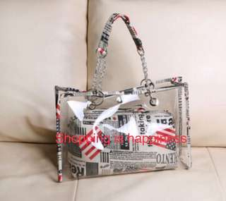 Transparent shoulder bag