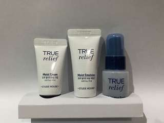 Etude house true relief trial kit 3 items