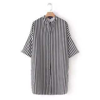 🔥Europe New Loose Striped Shirt