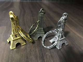 Eiffel Tower Keychain (3 different colors). Bought in Paris