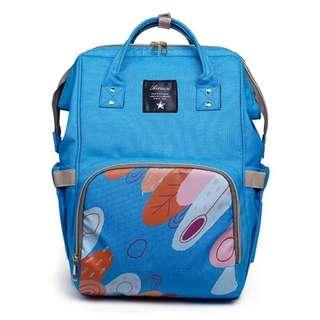 Mommy Backpack Diaper Bag (Blue)