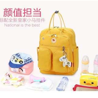 ❤ Fashionable Mommy / Baby Diaper Bag Macaroons ( Mustard)