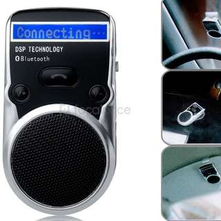 Solar Powered LCD Display Bluetooth Car Kit Handsfree Call Device Support PhoneBook and TTS Function