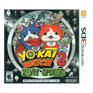 3ds Yo Kai Watch Bony Spirit