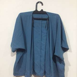 Forever21 Turquoise Kimono-Styled Outer