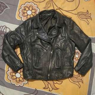 jaket kulit ramones biker rocker