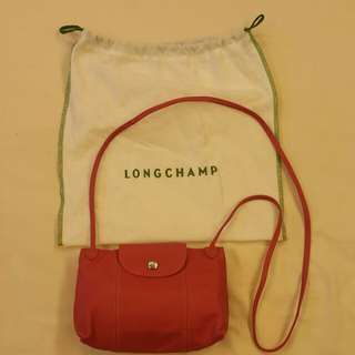 Longchamp lambskin cross body pouch
