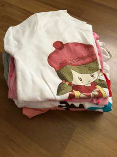 7 pcs Girls Tops $7 up to (8 years old) $1 per pc!