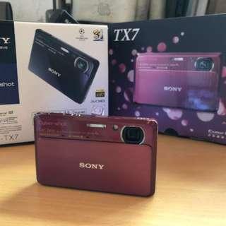 功能全正常!Sony數位相機TX7(含所有原廠配件)8G記憶卡+全新皮套+原廠電池2個