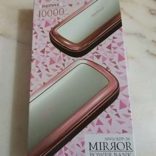 Remax mirror power bank 10000 mah
