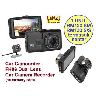 Car Camcorder FH06 Dual Lens Car Camera Recorder (no memory card)