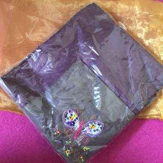 Nursing cover with pocket (embroidery) - unused