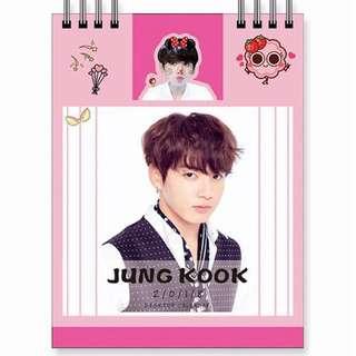 BTS Jungkook Desk Calendar