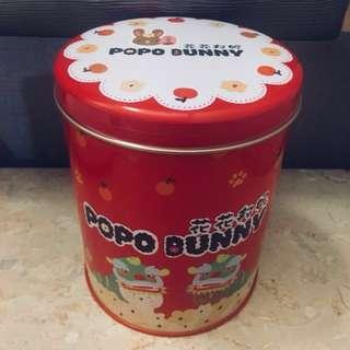 POPO BUNNY POPCORN 花花邦妮爆谷 朱古力味 舞獅罐