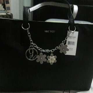 Black Nine West Ava Tote Bag