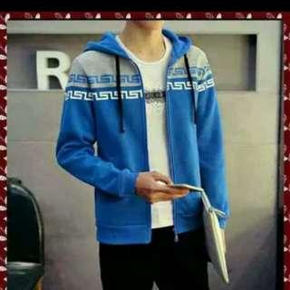 Jaket man abstrak biru