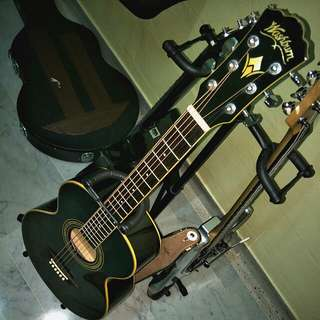 Washburn Black Knight WPJ5S-B Parlor Acoustic Guitar, Brand New, Fully set up, new coated D'addario strings