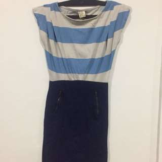 Pull and Bear Bodycon Striped Top Dress
