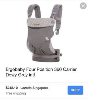 Ergobaby 360 Baby Carrier dewy grey