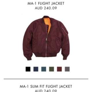 Alpha Industries Ma-1 Flight Bomber (Maroon)