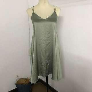 Silk Slip-On Dress