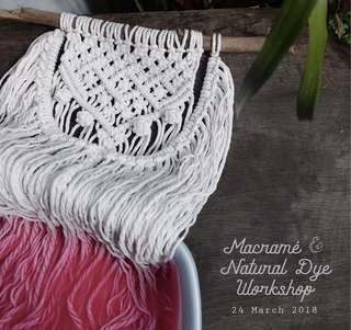Macramé & Natural Dye Workshop