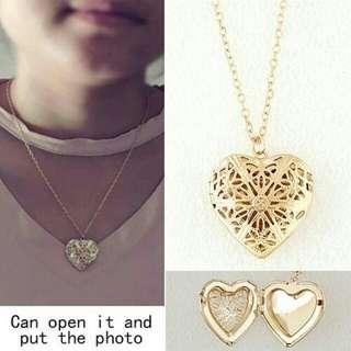 Kalung Gold Heart Photo