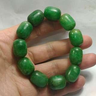 舊翠綠玉手鏈