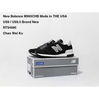 New Balance M995CHB Made in THE USA Virbam Sole Brand New