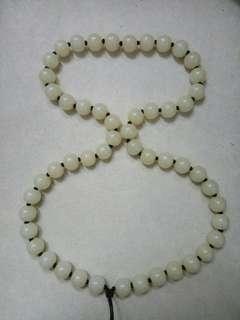 白玉圓珠頸鍊