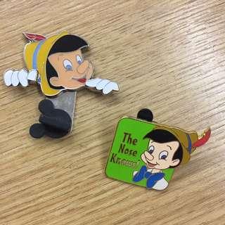 小木偶 disney pins