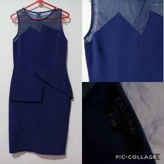 Dress peplum zalora formal