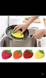 吸水草莓洗碗巾清洁布厨房洗碗毛巾擦桌布擦碗布洗碗布