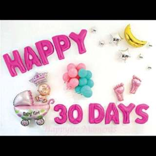 Baby Shower Decoration Alphabets Balloons Happy Birthday Party