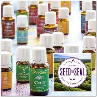 Young Living Essential Oils 15ml, lavender, peppermint, rc, lemon, eucalyptus, lemongrass